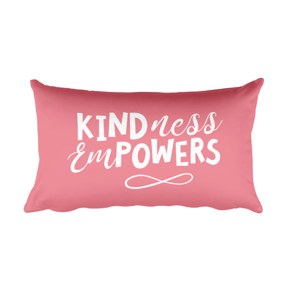 CASEY SIMPSON: KINDESS EMPOWERS PINK PILLOW