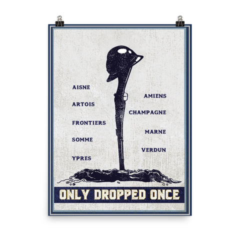 FORGOTTEN WEAPONS : ONLY DROPPED ONCE POSTER
