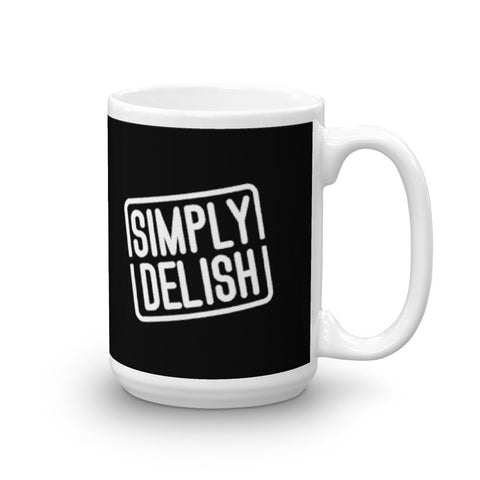 TODD'S KITCHEN: SIMPLY DELISH MUG - BLACK
