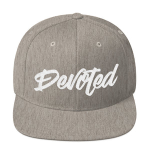 Vice Script Snapback Hat - Heather Grey