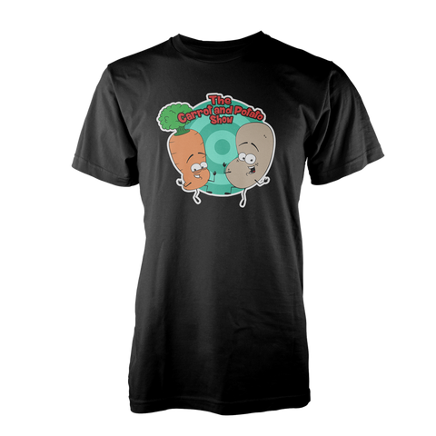 THE CARROT AND POTATO SHOW: THE T-SHIRT (BLACK)