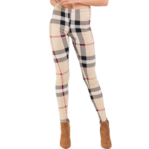 Burberrie - Burberry Inspired Leggings by Velma Canaday