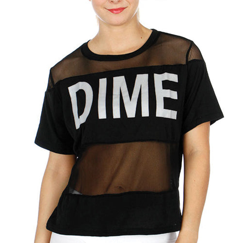 Dime Sheer Workout Top by Velma Canaday