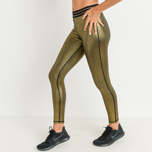 Goldie Haute Gold leggings by Velma Canada