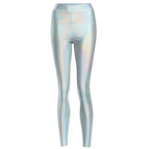 Shiny hologram leggings by Velma Canaday - Tights by Velma Canaday