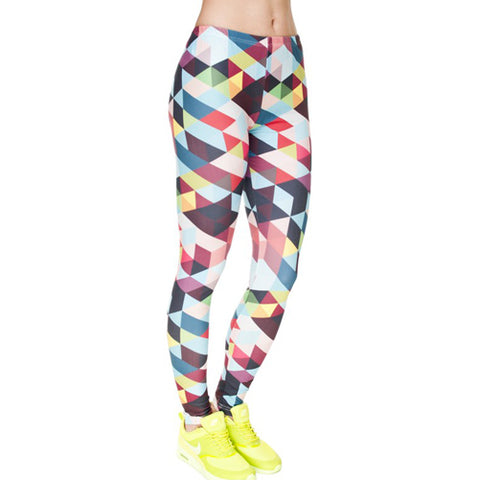 Geometric print leggings for working out - Tights By Velma Canaday