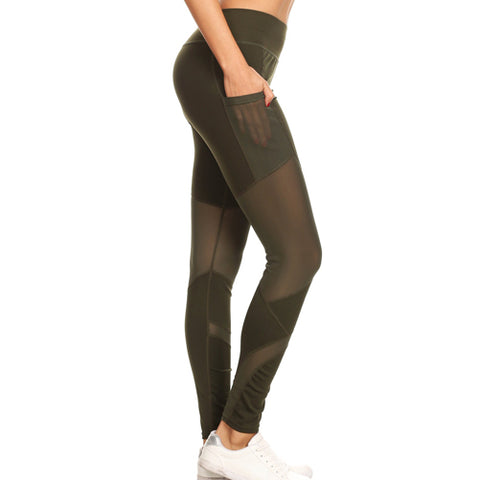 mesh leggings with pockets - Tights By Velma Canaday