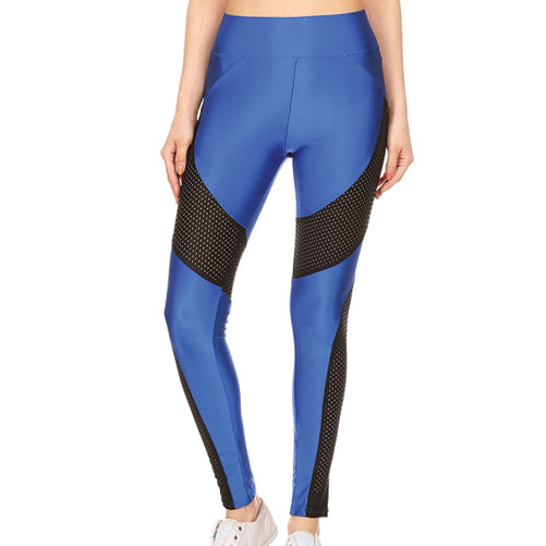 Machiko - Blue Workout Leggings by Velma Canaday