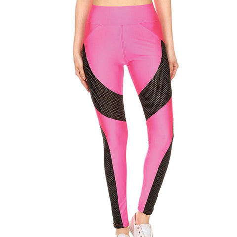 Machiko - Pink Workout Leggings by Velma Canaday