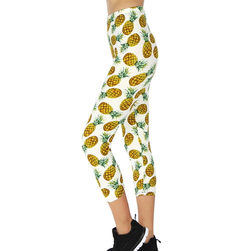Pineapple Capri leggings by Velma Canaday
