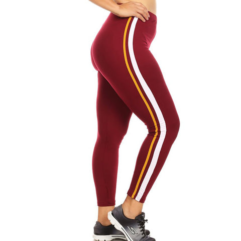 Redskin leggings - Burgundy leggings by Velma Canaday