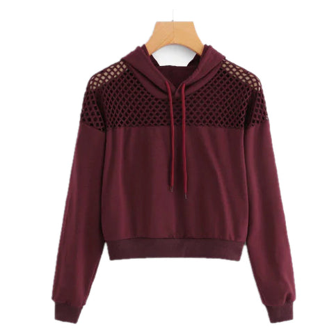 Burgundy women's workout hoodie - Tights Presented by Velma Canaday