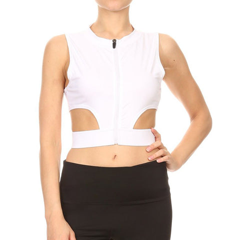 Stasha cut out mesh sports bra by Velma Canaday