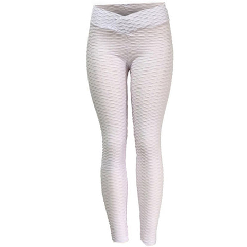 White Anti Cellulite Leggings by Velma Canaday