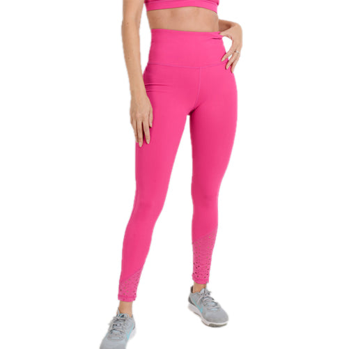 pink high waisted leggings - TightsByVC