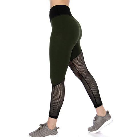 olive green leggings - Tights by Velma Canaday