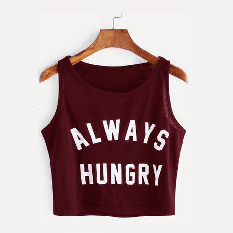 always hungry burgundy crop top - Tights by Velma Canaday