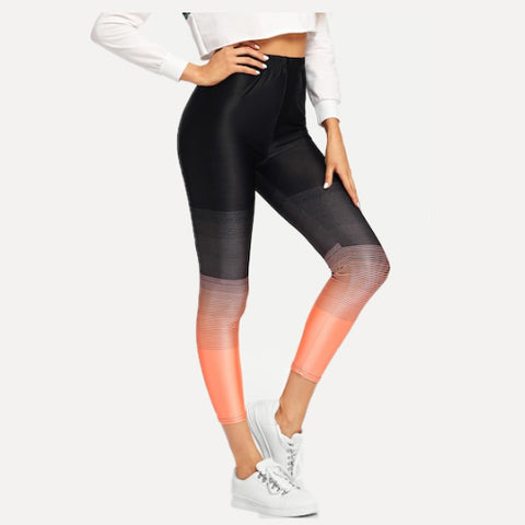 black ombre workout leggings Tights by Velma Canaday