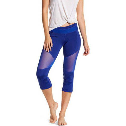 blue capri leggings by Velma Canaday