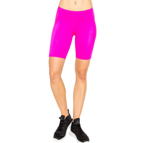 hot pink biker shorts - Tights by Velma Canaday