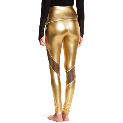 gold leggings -Tights by Velma Canaday