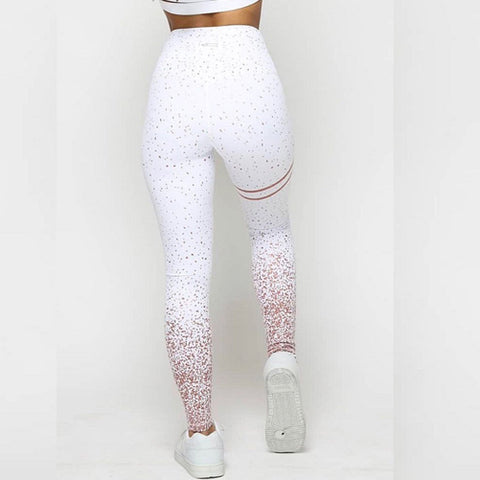 7bee04ea82 Glitter Gold - Sparkly White Yoga Pants by Velma Canaday – GymTightsByVC