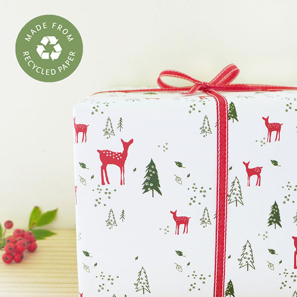 Reindeer Christmas Gift Wrap - Two Sheets