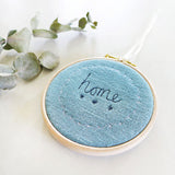 10cm 'Home' Embroidered Hoop Picture