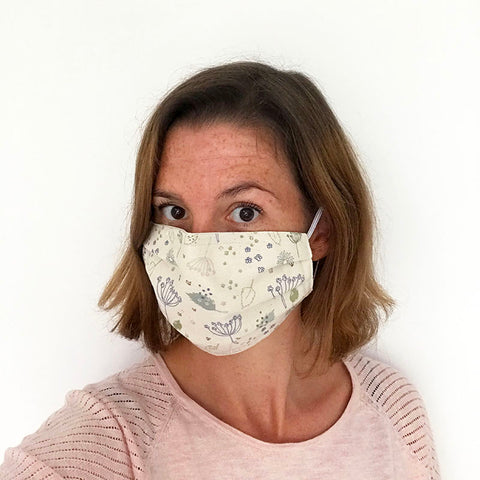 COTTON FACE MASK - Blue Parsley
