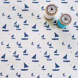 FABRIC - sailboats, ivory