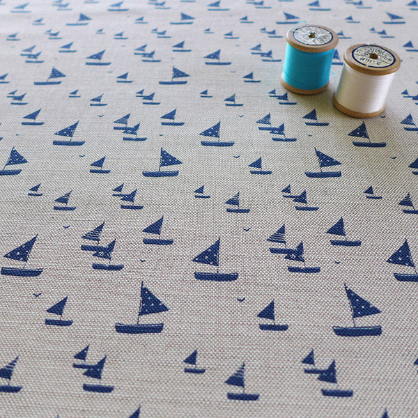 FABRIC - sailboats, natural