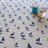 FABRIC - natural Sailboats