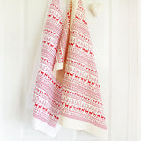 PRINTED COTTON TEA TOWEL - Fairisle