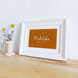 Personalised Name Embroidered Linen Picture