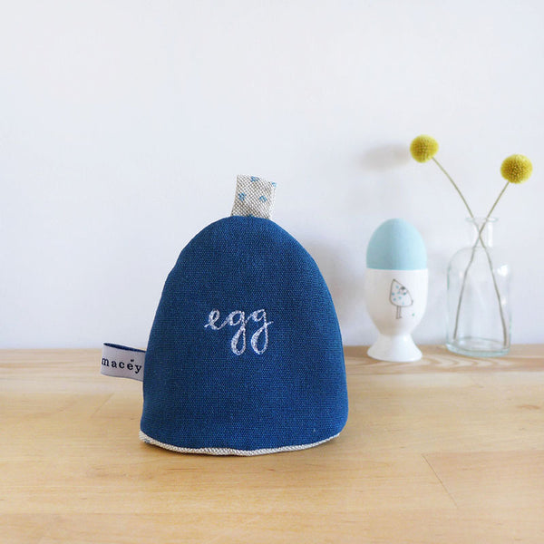 Blue 'Egg' Cosy