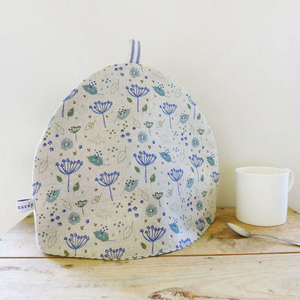 Blue Parsley Linen Tea Cosy
