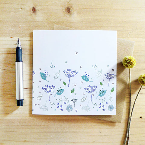 NOTECARD SET - blue parsley