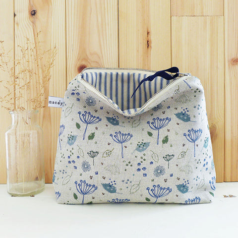 Blue Parsley Tall Pouch