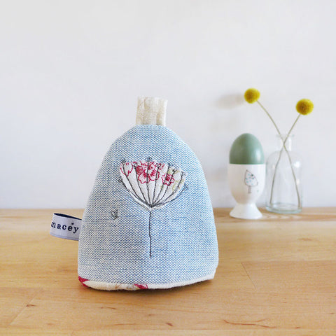 Embroidered Wildflowers Egg Cosy