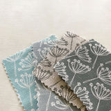 FABRIC - natural charcoal Cow Parsley