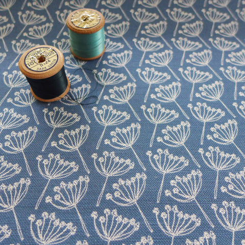 Fabric - Cow Parsley, French Blue