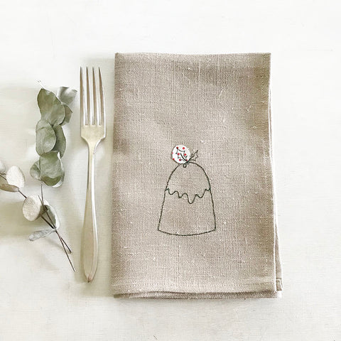 EMBROIDERED NAPKINS - little pud