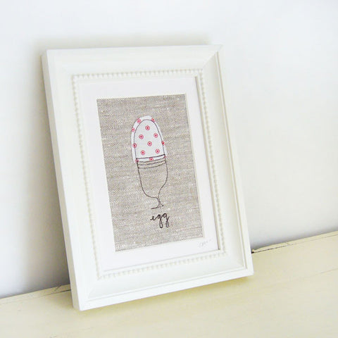 Spotty Egg Embroidered Picture