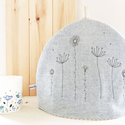 Embroidered Wildflowers Tea Cosy
