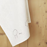 Embroidered Linen Sheep Tea Towel