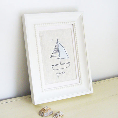 Yacht Embroidered Picture