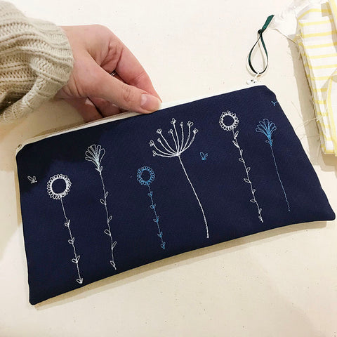 WORKSHOP - embroidered zip pouch, Saturday 26th January
