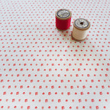 FABRIC - poppy Floral Dots