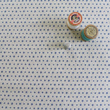FABRIC - navy Floral Dots