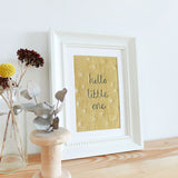 'Hello Little One' Embroidered Linen Picture